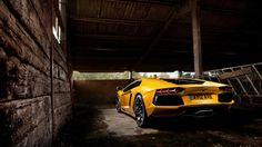 Yellow aventador