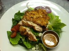 Chicken Fried Salad with Housemade Poppy-seed Dressing