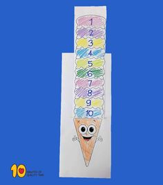 Math for Kindergarten – Count the Ice Cream Scoops Numbers 1 10, Kindergarten Lesson Plans, Printable Crafts, Alphabet Activities, In Writing, First They Came, Student Work, Counting, Classroom Ideas
