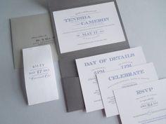 Pocketfold wedding invitation set, pocket fold, pocket folder invite
