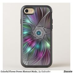 Colorful Flower Power Abstract Modern Fractal Art OtterBox Symmetry iPhone 8/7 Case