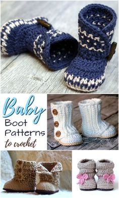 e82721aefdd Adorable baby boot patterns to crochet! Perfect little slippers for the  newborn