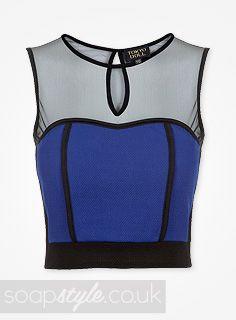 EastEnders Lauren Branning // Jacqueline Jossa // Lauren's Blue Crop Top - 13th August '13 [ Click photo for details ▸▸ ]