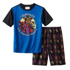 Boys 6-12 Five Nights At Freddy's Sleep Shorts, Multicolor