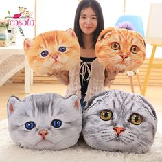 New Coming Cat Pillow Car Cushion Creative Stuffed Cute Cat shape Nap pillow Soft seat cushion Plush Toys Animal Pillow Couch Pillow Covers, Cat Pillow, Cat Gifts, Kids Gifts, Kids Toys For Christmas, Christmas Birthday, Cat Cushion, Cushion Pillow, Cheap Toys