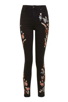 MOTO Limited Edition Floral Embroidered Jamie Jeans - Jeans - Clothing - Topshop Europe
