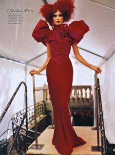 Christian Dior Haute Couture F/W 1997 by John Galliano, Backstage.