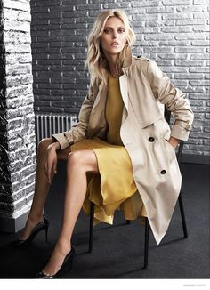 anja rubik massimo dutti fall 5th ave collection 2014 02 Anja Rubik Wears Elegant Outerwear in Massimo Dutti New York City Fall 2014 Ads