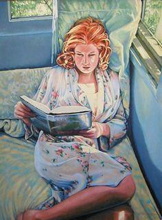 Leitura Diane Geoghegan (EUA, 1952) aquarela www.dianegeoghegan.com