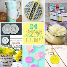 Great Ideas -- 24 Mother's Day Handmade Gift Ideas! #DIY #mothersday