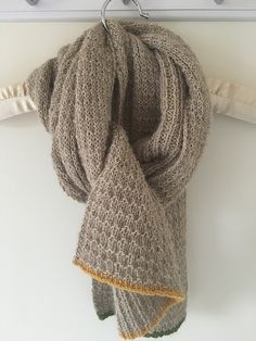 Matilda Textured Scarf by Stella Smith (Sport - Drops Alpaca)