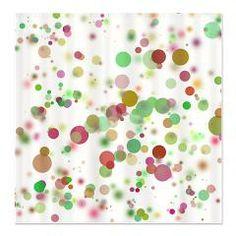 Confetti Bubbles Shower Curtain