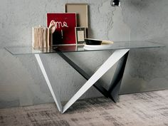 Cattelan Italia Westin Glass Console Table by Giorgio Cattelan - Chaplins