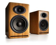 Audioengine P4 Passive Bookshelf Speakers, Bamboo