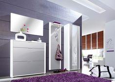 Mentor Garderoben-Set mit Spiegel, Schuhschrank, Garderobenschrank und Garderobe