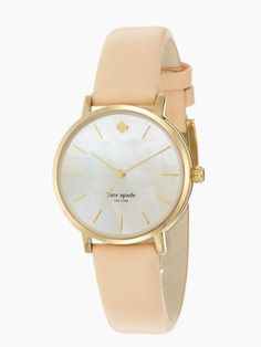 Kate Spade Metro Watch | Gold & Nude leather strap