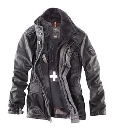 Strellson Swiss Cross Revival Jacket, with swiss army knife #swisscross #army #outdoor