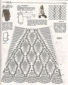 Crochet Skirt Pattern, Crochet Pants, Crochet Skirts, Crochet Square Patterns, Crochet Gloves, Crochet Diagram, Crochet Chart, Crochet Designs, Knit Crochet