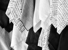 Prop Styling * Soft Goods Styling * Photography * Cloth Napkins * Black & White * Prop Stylist: Josephine Castellano JosCast.com Photographer: Amanda James Photo