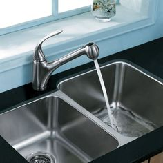 The elegant and modern design of this stainless steel pull-down kitchen faucet with expandable reach from Vigo stretches the limits of what is possible with a single fixture, letting you finish the washing quicker and easier than ever before.