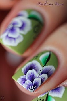 One stroke flower nail art - déco 241 10