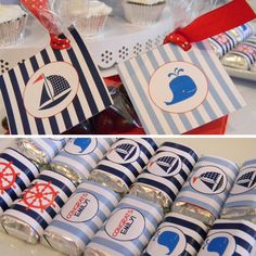 Nautical baby shower elements. Boy Baby Shower Themes, Baby Shower Fun, Shower Party, Baby Shower Parties, Baby Showers, Kate Baby, Nautical Party, Baby Shower Diapers, Baby Sprinkle