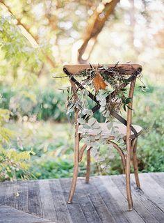 Autumn chair decor