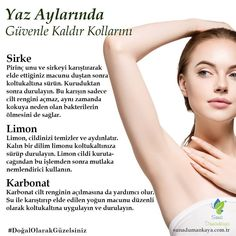 """When it comes to """"care"""" in the summer period, sun and skin care comes to mind first, but armpit care should not be skipped in this process as well. armpit care should not be missed in this process . Organic Skin Care, Natural Skin Care, Facial Yoga, Healthy Skin Tips, Makeup Eye Looks, Homemade Skin Care, Facial Care, Beauty Recipe, Skin Problems"""