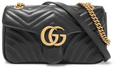 Gucci - Gg Marmont 2.0 Small Quilted Leather Shoulder Bag - Black