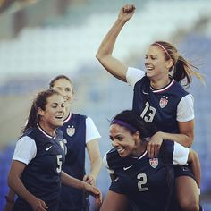 Two goals from Alex Morgan gave the #USWNT victory over Germany today and their 9th Algarve Cup title!