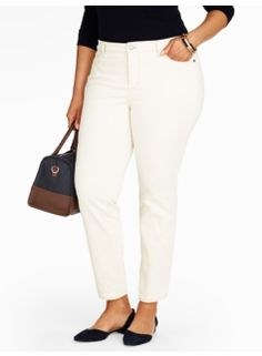The Flawless Five-Pocket Ankle Jean - Vanilla