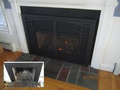 Energy efficient direct vent gas insert.
