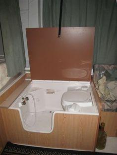 folding camper with shower ile ilgili görsel sonucu