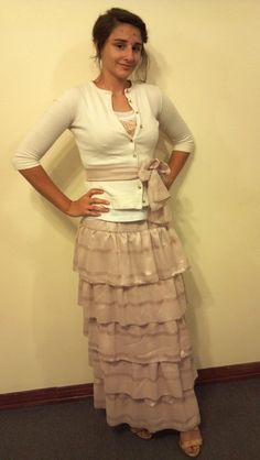 I like the sweater with ribbon on it :)   Ladies+Ruffled+Skirt+by+BellaRose1972+on+Etsy,+$45.00