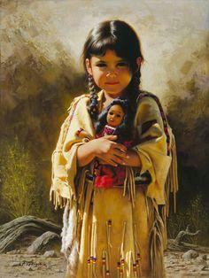 Two little dolls, del pintor mexicano Alfredo Rodríguez.