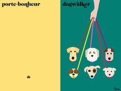 Paris porte-bonheur vs. New York dogwalker
