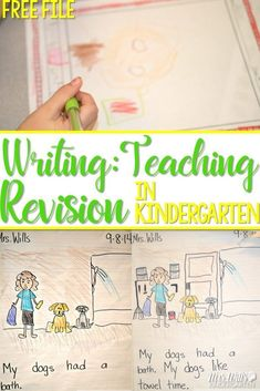 Kindergarten writing revision lessons. Students learn how to revise their writing with these mini-lessons. Engaging activities and management ideas that get kids excited to write.