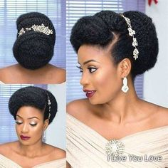 91 best wedding hairstyles for short and long hair 2018 - Hairstyles Trends Natural Bridal Hair, Simple Bridal Hairstyle, Natural Hair Bun Styles, Natural Wedding Hairstyles, Natural Hair Braids, Natural Hair Styles For Black Women, Braids For Black Hair, Bridal Hair And Makeup, Bride Hairstyles