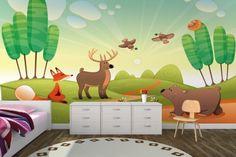Cute Woodland Animals Wallpaper Mural