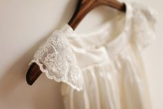 Lace Cap Sleeves Flower Girl Dress Infant Toddler by autoalive