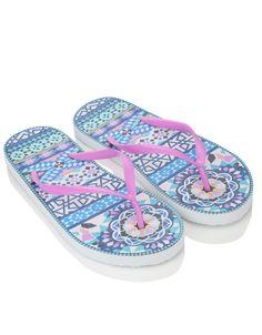 Flip-Flops mit marokkanischem Mosaik-Fliesenaufdruck