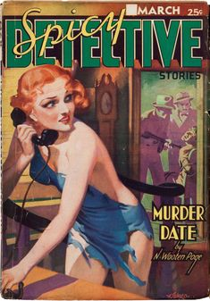 SPICY DETECTIVE March 1937 | pulp cover art erotic noir vintage