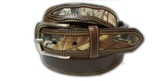 John Deere Men's Camouflage Overlay Belt,Brown,38 John Deere. $32.00. Padded center and double stitching for added strength. detachable buckle. officially licensed john deere product.. Top Grain Oil-Tanned Leather, Canvas Camouflage Overlay Sections. Top grain leather. camouflage is a hot fashion look, perfect for casual or work wear and hunting.. Leather / Canvas
