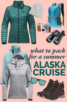Getting ready for your Alaska summer cruise and trying to decide what to pack? Here is our Alaska cruise packing list for June, July, August and September. If you are packing for Alaska cruise in June you may hope the weather will be warm. Don't count on it! The key to your Alaska cruise packing list is layers. #alaska #cruise #packing alaska cruise packing list, outfits, capsule wardrobe, what to wear, summer Alaska cruise June, July, August, September