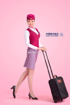 China Southern Airlines, Airline Uniforms, Office Skirt, Military Women, Cabin Crew, Flight Attendant, Secretary, Dress Skirt, Pilot