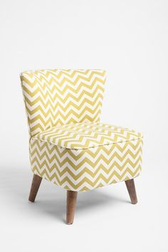 Chevron chair in yellow via Urban Outfitters