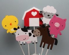 Farm Animal Centerpieces - Set of 6