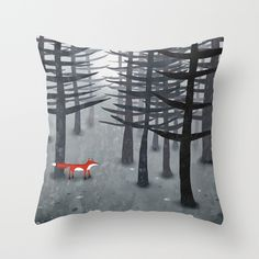 Buy The Fox and the Forest by Nic Squirrell as a high quality Throw Pillow. Worldwide shipping available at Society6.com. Just one of millions of products available.