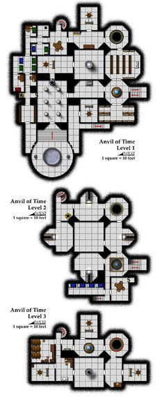 This Anvil of Time map was based on the author's sketch for a Dragonlance adventure in Dungeon Magazine. It was my first freelance project for the magazine, and one of the first maps they ever published in full color.