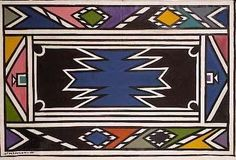 Untitled by Esther Mahlangu - Contemporary African Art Collection Geometric Painting, Geometric Art, Africa Symbol, Afrique Art, African Patterns, Contemporary African Art, African Design, Beading Patterns, South Africa